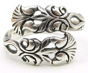 Vintage 1970s Sterling Silver 925 Bypass Ring